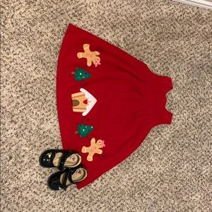 Dresses & Skirts - Lovely Christmas corduroy dress with gingerbread